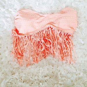 Candies Coral Juniors NWT Fringe Bikini Top XL